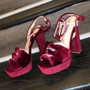 BRAND NEW, Women's Burgundy Platform Heels
